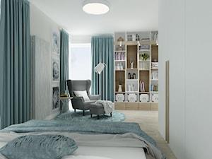 Sypialnia - Duża biała sypialnia małżeńska, styl skandynawski - zdjęcie od All Design Agnieszka Lorenc