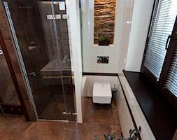 łazienka z kamieniem 2 - Średnia biała brązowa łazienka, styl klasyczny - zdjęcie od All Design Agnieszka Lorenc