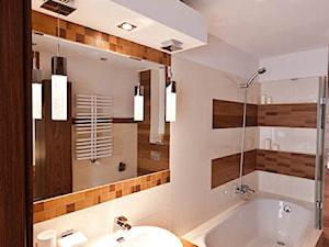 łazienka z drewnem realizacja