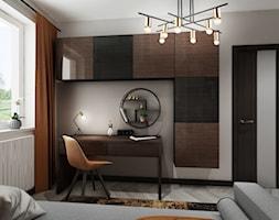 Mieszkanie z kolorem koniaku - Biuro, styl tradycyjny - zdjęcie od All Design Agnieszka Lorenc