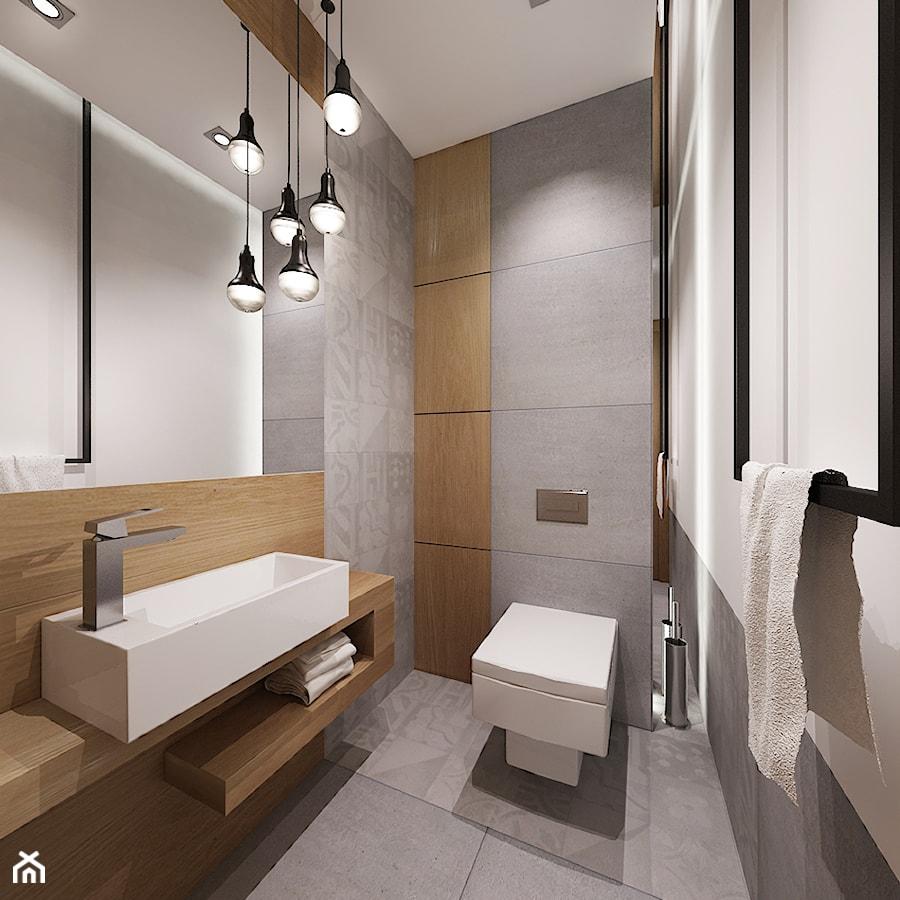 łazienka W Szarosciach Mała Biała Szara łazienka Styl