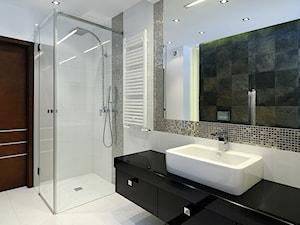 Łazienka w bieli realizacja - Średnia biała kolorowa łazienka - zdjęcie od All Design Agnieszka Lorenc