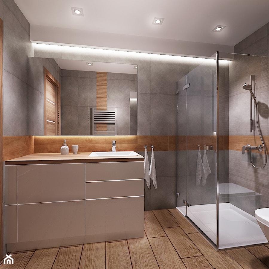 Mieszkanie na wynajem 1 - Średnia szara łazienka bez okna, styl nowoczesny - zdjęcie od All Design Agnieszka Lorenc