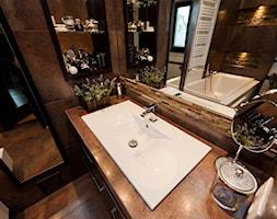 łazienka z kamieniem 2 - Średnia łazienka w domu jednorodzinnym z oknem, styl klasyczny - zdjęcie od All Design Agnieszka Lorenc