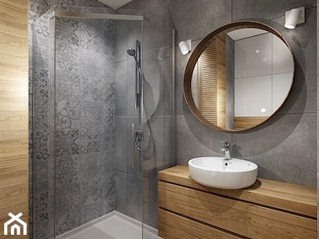 Aranżacje wnętrz - Łazienka: Mała łazienka 1 - Mała szara łazienka w bloku bez okna, styl tradycyjny - All Design Agnieszka Lorenc . Przeglądaj, dodawaj i zapisuj najlepsze zdjęcia, pomysły i inspiracje designerskie. W bazie mamy już prawie milion fotografii!