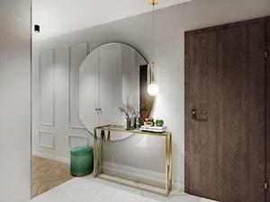 Mieszkanie z zielenią - Średni szary hol / przedpokój, styl tradycyjny - zdjęcie od All Design Agnieszka Lorenc