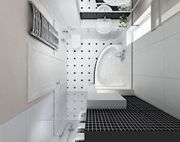 Projekt - Klasyczny dom pod Krakowem - Mała beżowa łazienka w bloku z oknem, styl klasyczny - zdjęcie od All Design Agnieszka Lorenc