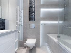 ŁAZIENKA Mieszkanie na wynajem Kraków - Mała szara łazienka w bloku w domu jednorodzinnym bez okna, styl nowoczesny - zdjęcie od All Design Agnieszka Lorenc