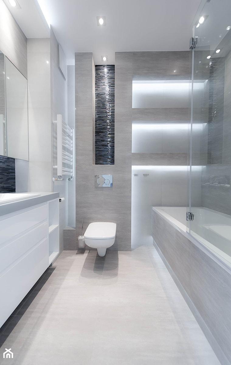 łazienka Mieszkanie Na Wynajem Kraków Mała Szara łazienka
