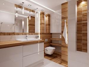 Mała łazienka z drewnem