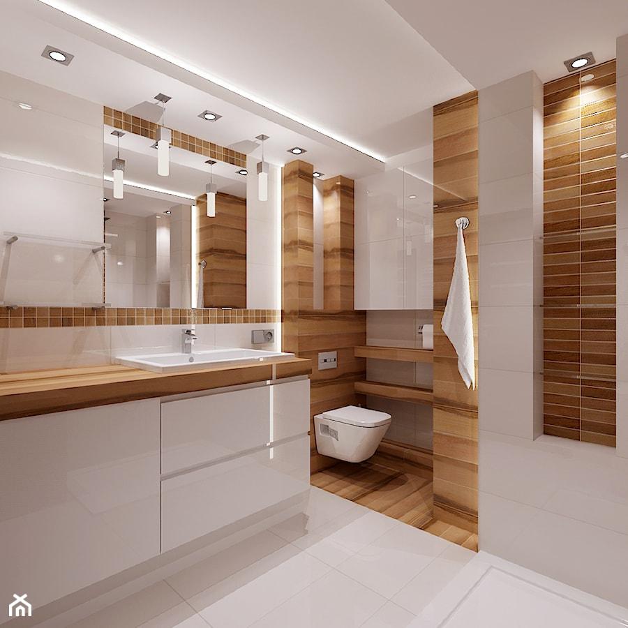 Mała łazienka Z Drewnem łazienka Styl Nowoczesny