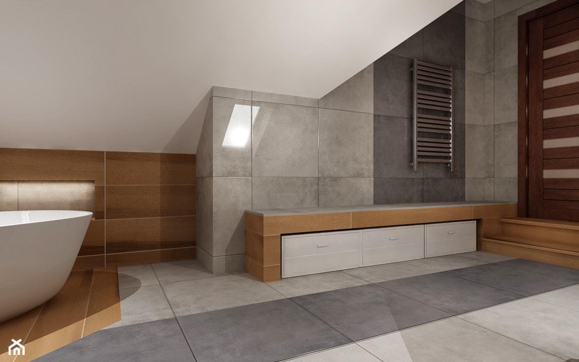 Duża łazienka na poddaszu - Łazienka, styl tradycyjny - zdjęcie od All Design Agnieszka Lorenc - Homebook