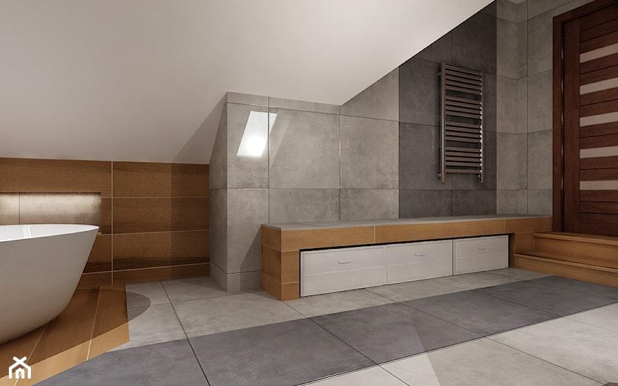 Duża łazienka na poddaszu - Łazienka, styl tradycyjny - zdjęcie od All Design Agnieszka Lorenc