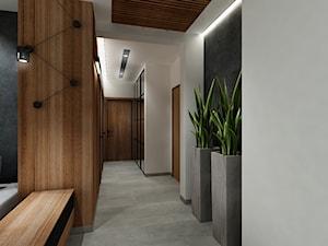Mieszkanie z czernia na wynajem Kraków - Średni biały hol / przedpokój, styl nowoczesny - zdjęcie od All Design Agnieszka Lorenc