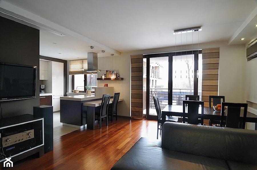 Mieszkanie 2 Kraków - Salon z kuchnią z jadalnią, styl nowoczesny - zdjęcie od All Design Agnieszka Lorenc