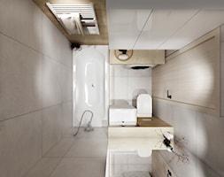 Mieszkanie 50 m2 - Mała beżowa łazienka bez okna, styl nowoczesny - zdjęcie od All Design Agnieszka Lorenc