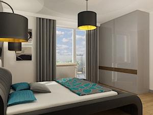 Projekt Mieszkanie Kraków - Średnia biała sypialnia małżeńska z balkonem / tarasem, styl tradycyjny - zdjęcie od All Design Agnieszka Lorenc