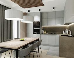 Mieszkanie w Bydgoszczy - Duża otwarta biała kuchnia w kształcie litery l z oknem, styl nowoczesny - zdjęcie od All Design Agnieszka Lorenc
