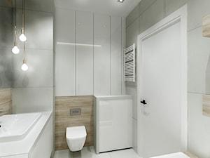 Mieszkanie w Bydgoszczy - Mała łazienka w bloku w domu jednorodzinnym bez okna, styl nowoczesny - zdjęcie od All Design Agnieszka Lorenc