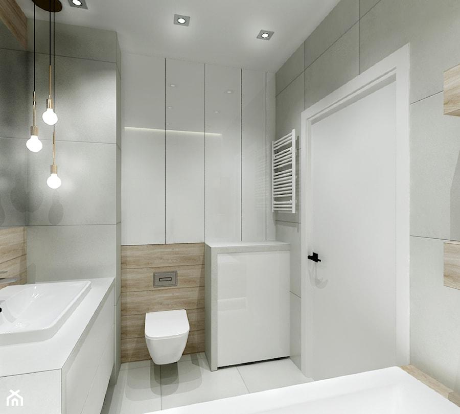Balkon W Domu Jednorodzinnym: Mała łazienka W Bloku W Domu