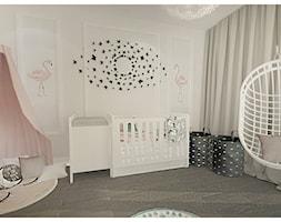 Projekt apartamentu 90m2 w Warszawie - Mały szary pokój dziecka dla chłopca dla dziewczynki dla niemowlaka, styl nowojorski - zdjęcie od Interior Maker wnętrza