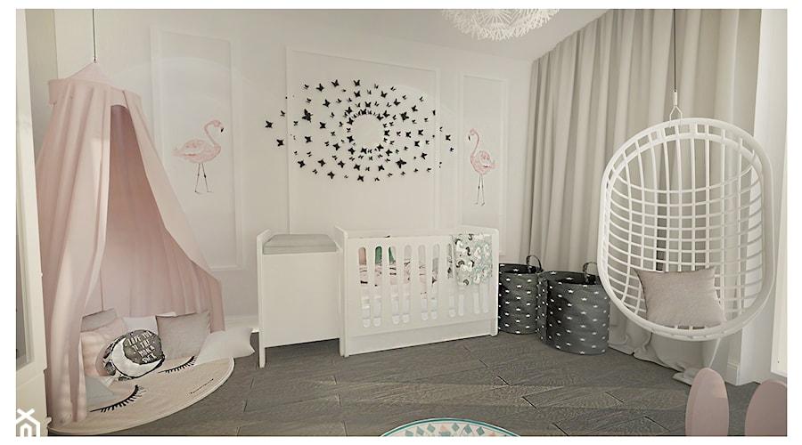 Aranżacje wnętrz - Pokój dziecka: Projekt apartamentu 90m2 w Warszawie - Mały szary pokój dziecka dla chłopca dla dziewczynki dla niemowlaka, styl nowojorski - Interior Maker wnętrza . Przeglądaj, dodawaj i zapisuj najlepsze zdjęcia, pomysły i inspiracje designerskie. W bazie mamy już prawie milion fotografii!