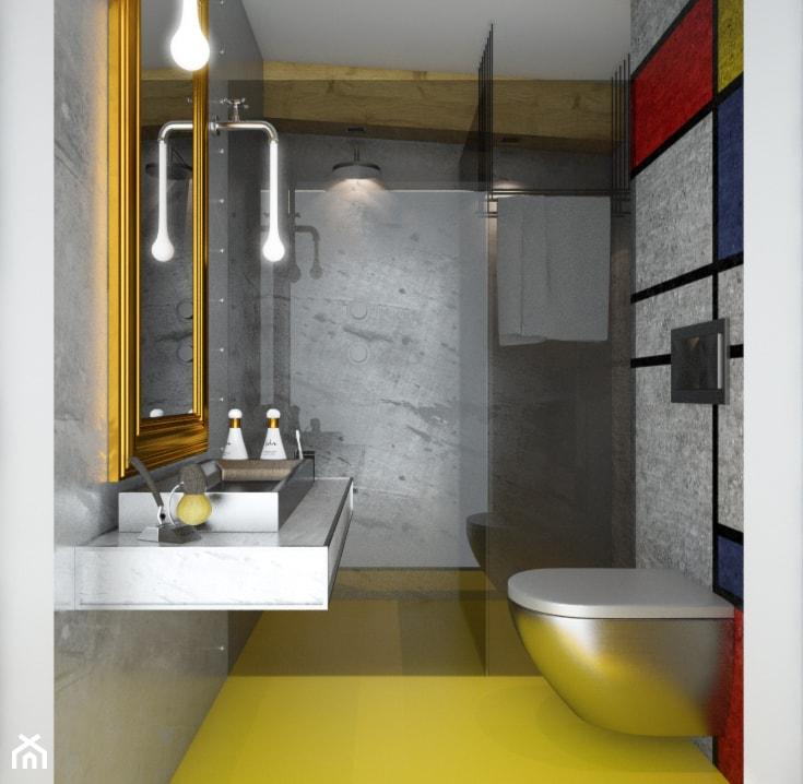 betonowa łazienka - zdjęcie od Beautiful Minds Projektowanie Wnętrz