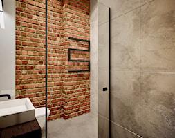 Łazienka w stylu loft - Mała biała łazienka w bloku w domu jednorodzinnym bez okna, styl industrialny - zdjęcie od Beautiful Minds Projektowanie Wnętrz