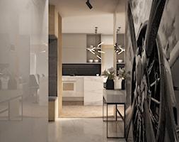 Apartament w Mennica Residence - Mały biały hol / przedpokój, styl nowoczesny - zdjęcie od Beautiful Minds Projektowanie Wnętrz