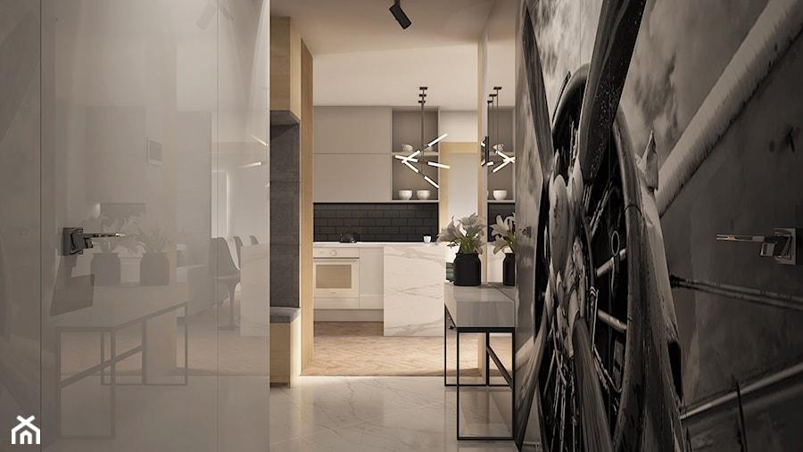 Aranżacje wnętrz - Hol / Przedpokój: Apartament w Mennica Residence - Mały biały hol / przedpokój, styl nowoczesny - Beautiful Minds Projektowanie Wnętrz. Przeglądaj, dodawaj i zapisuj najlepsze zdjęcia, pomysły i inspiracje designerskie. W bazie mamy już prawie milion fotografii!