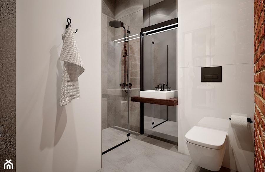 Mała łazienka w stylu loft - zdjęcie od Beautiful Minds Projektowanie Wnętrz