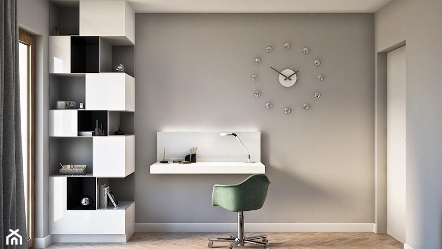 Gabinet w nowoczesnym stylu - zdjęcie od Beautiful Minds Projektowanie Wnętrz
