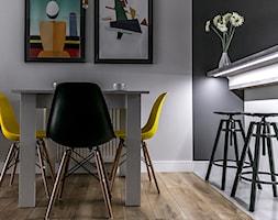 Apartament Szewska w Lublinie - Mała biała jadalnia, styl minimalistyczny - zdjęcie od interior art studio