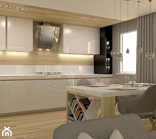 Apartment in Bialystok  Średnia otwarta kuchnia