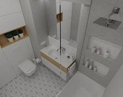 MOZAIKA MOKOTÓW - Łazienka, styl nowoczesny - zdjęcie od ESTU architektura wnętrz - Homebook