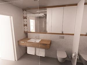 Dom w Ząbkach - Średnia szara łazienka w bloku w domu jednorodzinnym z oknem, styl nowoczesny - zdjęcie od mint&brisk