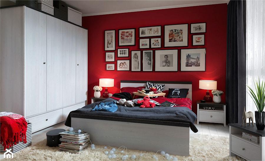 Sypialnia Red Black White