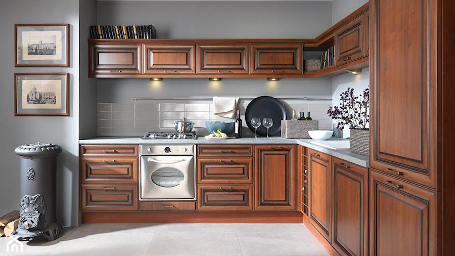Kuchnie rednia otwarta kuchnia w kszta cie litery l w for Black red white kuchnie