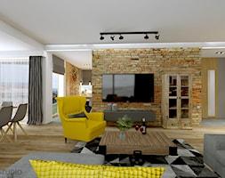 Loftowy+salon+-+zdj%C4%99cie+od+PROFES+STUDIO+Sylwia+Fabjan-Jaros+-Architekt+wn%C4%99trz