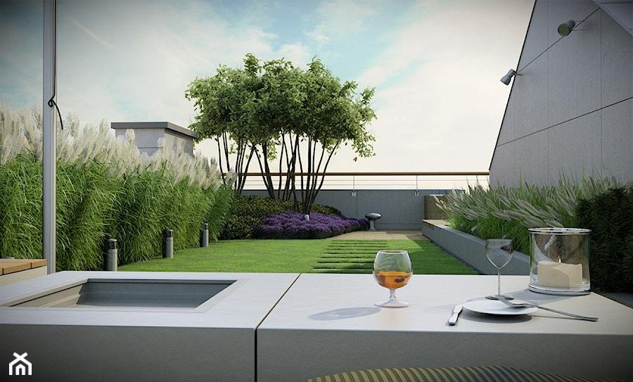 Ogród na dachu - zdjęcie od EMSIDE Architektura Krajobrazu