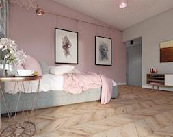 Sypialnia Bialo Szaro Fioletowa