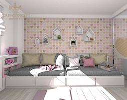 POKÓJ SIÓSTR-serduszka - Pokój dziecka, styl nowoczesny - zdjęcie od Agata Łysiak PIĘTRO - Homebook