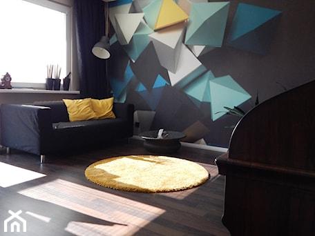 Aranżacje wnętrz - Salon: Latające czworościany - Salon, styl eklektyczny - Agata Łysiak PIĘTRO. Przeglądaj, dodawaj i zapisuj najlepsze zdjęcia, pomysły i inspiracje designerskie. W bazie mamy już prawie milion fotografii!