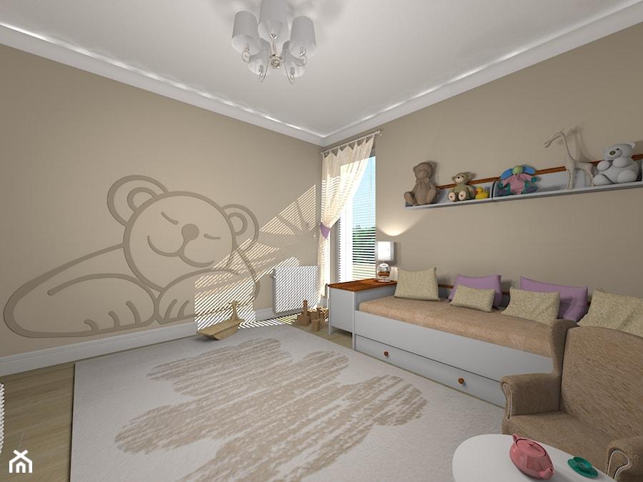 POKÓJ DZIEWCZYNKI - MIŚ - Pokój dziecka, styl eklektyczny - zdjęcie od Agata Łysiak PIĘTRO