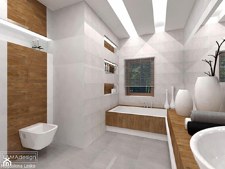 łazienka Biel I Drewno Zdjęcie Od Lamadesign Homebook