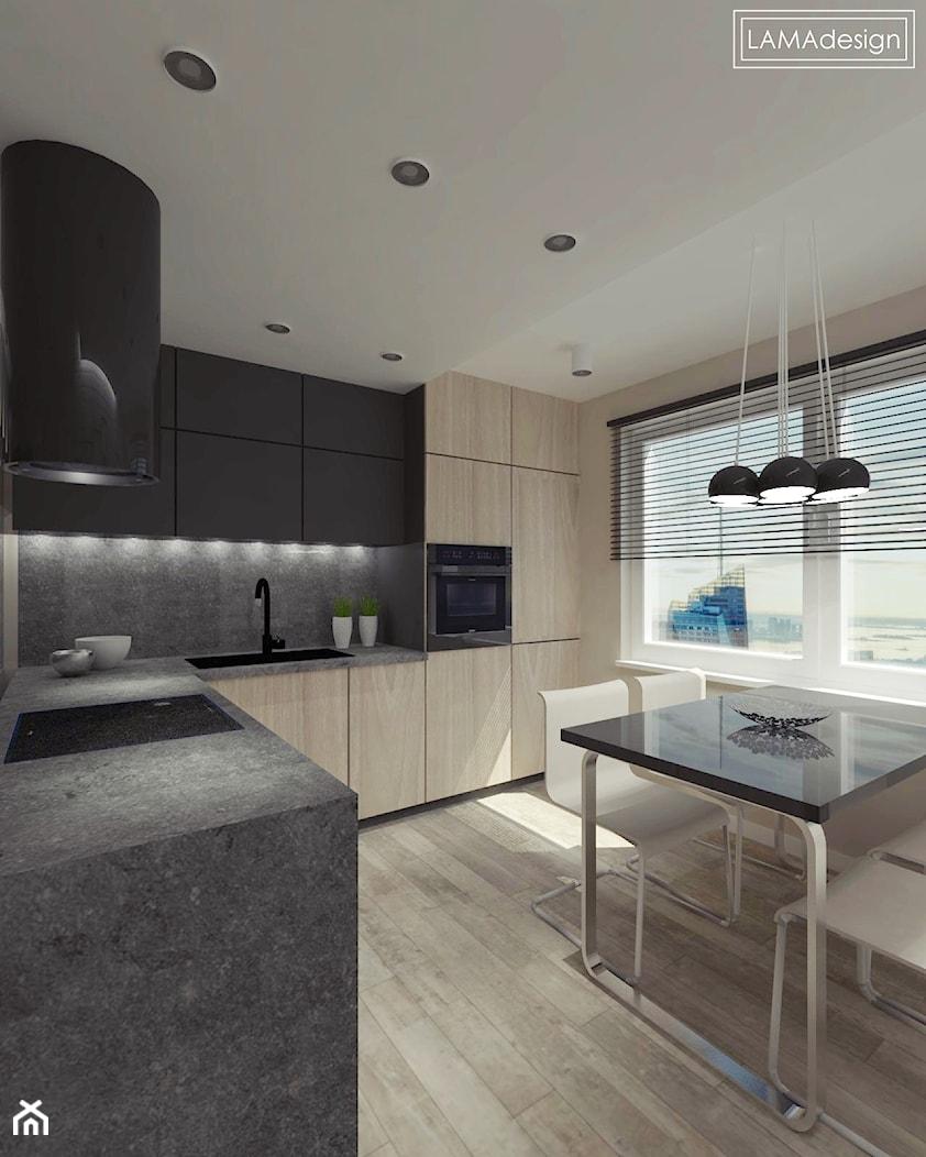 Salon z kuchnią w Rudzie Śląskiej - zdjęcie od LAMAdesign - Homebook