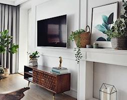 Mieszkanie 60m2 - Mały biały salon, styl skandynawski - zdjęcie od MaNaZa