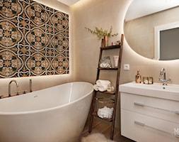 apartament nad Wisłą w Krakowie - Mała łazienka w bloku w domu jednorodzinnym bez okna, styl rustykalny - zdjęcie od MaNaZa
