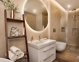 apartament nad Wisłą w Krakowie - Mała łazienka w bloku w domu jednorodzinnym, styl rustykalny - zdjęcie od MaNaZa