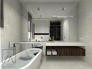 DOM // PNIEWY - Średnia szara łazienka w bloku w domu jednorodzinnym z oknem, styl nowoczesny - zdjęcie od SZTYBLEWICZ_architekci